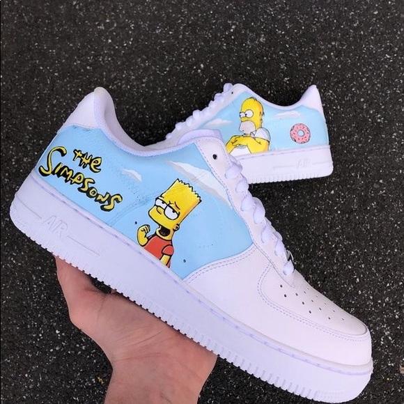 Nike Shoes   Simpsons Custom Air Force